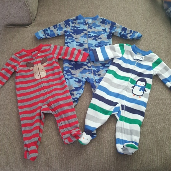 One Pieces | 03m Footed Jammies Bundle | Poshmark